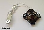 מפצל USB קטן - שחור