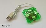 מפצל USB קטן - ירוק