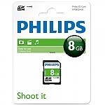 כרטיס זיכרון PHILIPS SDHC 8GB CL10