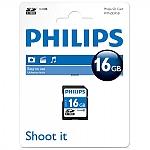 כרטיס זיכרון PHILIPS SDHC 16GB CL10