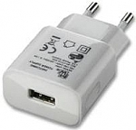 מטען קיר EcoTec 1A USB - White