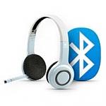 אוזניות ומקרופון בלוטות Logitech Bluetooth Wireless For iPad iPhone iPod בצבע לבן