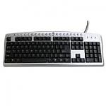 Muller Heb,Eng Multimedia PS2 KeyBoard M-809
