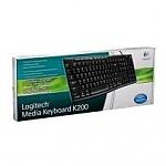 מקלדת Logitech Media Keyboard K200 Retail