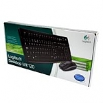 סט מקלדת ועכבר ברוסית Logitech Desktop Set MK120 Russian Retail