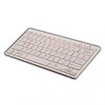 מקלדת בלוטות' QUE Bluetooth Wireless Keyboard - צבע לבן