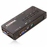 מתג Edimax 4 Port KVM Switch 350MHz High Bandwidth With PS2 EK-PSK4