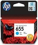 ראש דיו כחול ציאן מקורי HP No 655 CZ110AE