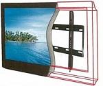 מתקן תליה שטוח למסכים דקים בגדלים 32-60 אינץ'