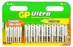 8 סוללות AA ו- 4 סוללות AAA לא נטענות של חברת GP