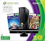 XBOX 360 SLIM PAL + KINECT פרוץ USB כולל 2 משחקים Kinect מיקרוסופט