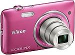 מצלמה דיגיטלית Nikon COOLPIX S3500 20.1MP 8GB - צבע ורוד