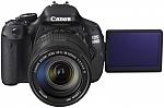 מצלמה דיגטלית עם עדשת זום ללא מייצב תמונה Canon EOS 600D 18MP 18-55 III - צבע שחור
