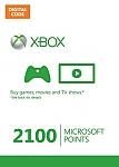 2100 נקודות Microsoft Xbox 360 Live Points מיקרוסופט