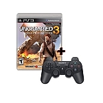 חבילת Uncharted 3 משחק+שלט מקורי PS3