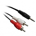 Conceptronic Audio Cable 3.5mm Stereo Plug To 2x RCA Plugs 1.8m
