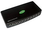 מפצל STLab USB 2.0 10-Port Hub With External Power Adapter U-500