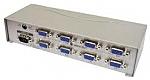 מפצל Dynamode מחיבור VGA ל-8 חיבורי VGA