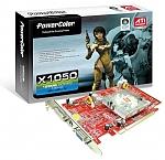 כרטיס טלויזיה מתצוגה PowerColor X1050 256MB DDR2 TVout,DVI,PCI-E