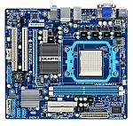לוח אם מתצוגה Gigabyte GA-MA74GM-S2 AM2+, AM3, 740G, DDR2 800, VGA ATI HD2100, PCI-E, HDAudio, GBL