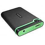 כונן קשיח חיצוני Transcend StoreJet 25M3 TS1TSJ25M3 1TB USB 3.0 - צבע ירוק