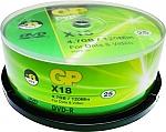 דיסקים לצריבה GP DVD-R x18 4.7GB Media 25-Pack PDVD-25