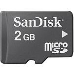 כרטיס זכרון SanDisk MicroSD SDSDQM-002G - נפח 2GB