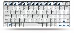 מקלדת בלוטות' Rapoo Bluetooth Ultra-Slim Keyboard For iPad E6300 - צבע לבן