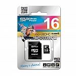 כרטיס זיכרון Silicon Power MICRO SD 16GB