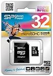 כרטיס זיכרון Silicon Power MICRO SD 32GB
