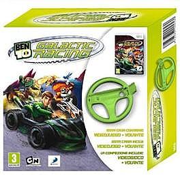 Wii Ben 10 Galactic Racing + Wii Wheel - 1