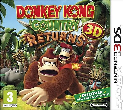 3DS Donkey Kong Country Returns 3D - 1