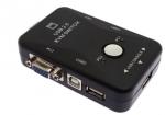 קופסת מיתוג USB KVM ל-שני מחשבים