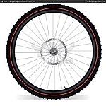 גלגל קדמי לאופניים חשמליים 26 אינץ
