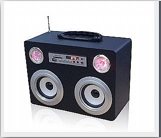 רמקול בשילוב רדיו,חיבור למחשב,סמארטפונים ולנגנים - 1