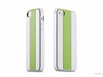 כיסוי Momax Icase MX לאייפון 5/5S לבן-ירוק