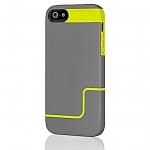 כיסוי Incipio EdgePro אייפון 5/5S אפור כהה-צהוב