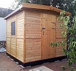 מחסן גינה מעץ במידות 3*4