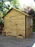 מחסן עץ לגינה 2.7X2.7 מ'. מחסן משרד בקתה מעץ