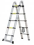 סולם טלסקופי כפול 8 שלבים (*2)- כפול 5 מטרים - עם תיק נשיאה מתנה!