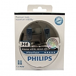 סט נורות לרכב H4 לבנות PHILIPS WHITE VISION