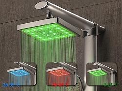 ראש מקלחת לד