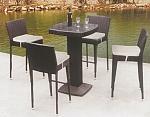 בר ו 4 כיסאות