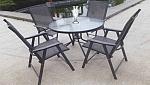 סט שולחן + 4 כיסאות מתקפלים