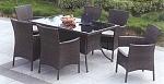 מערכת ישיבה ראטן + 8 כיסאות