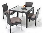 שולחן ו4 כיסאות ראטן